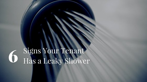 Chicago Property Manager: Signs That Your Tenant Has A Leaky Shower