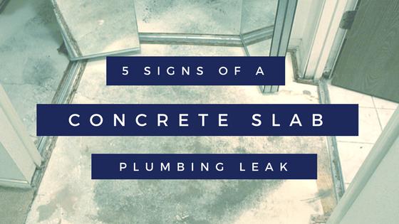 concrete slab plumbing leak