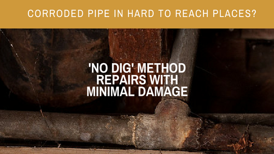 no dig corroded pipe repair