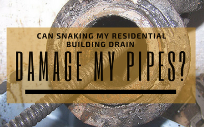 Can Snaking my Residential Building Drain Damage my Plumbing Pipes?