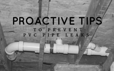 2 Proactive Steps to Preventing PVC Pipe Leaks